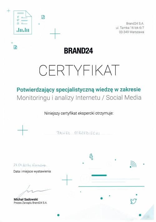 certyfikat brand 24