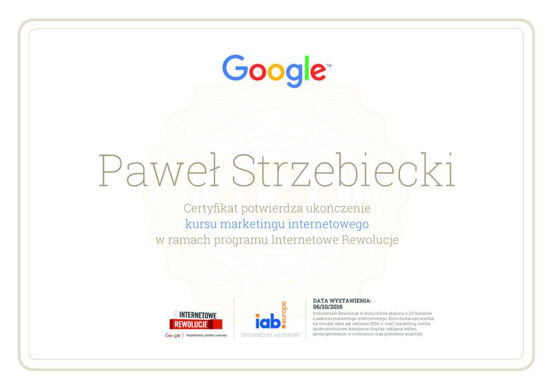 Certyfikat marketing internetowy