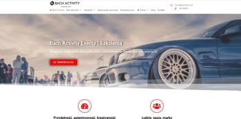 Projekt strony Bachactivity Toruń